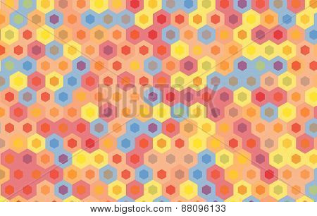 Colorful Hexagon Background.vector Geometric Pattern Design.
