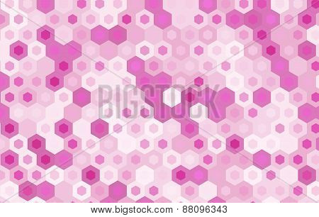 Pink Hexagon Vector Background Design.geometric Background.