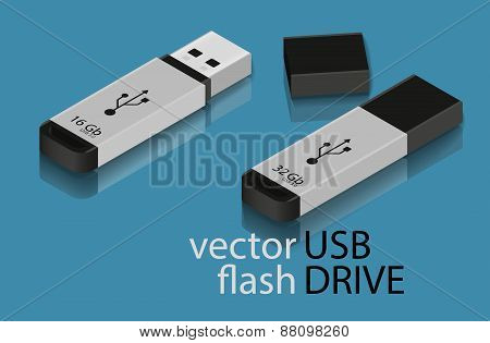 USB Flash Drive Icon.