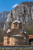 picture of serbia  - Panorama of medieval Poganovo Monastery of St - JPG