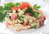 picture of italian parsley  - Italian pasta salad with tomato - JPG