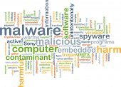stock photo of malware  - Background text pattern concept wordcloud illustration of malware software - JPG