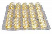 picture of cod  - Cod liver oil capsules isolated on white background with clipping path - JPG