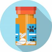 picture of prescription  - Container with pills  - JPG