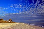 stock photo of gulf mexico  - Unusual Clouds over the Gulf of Mexico at Sunset - JPG
