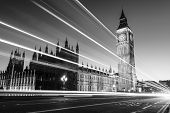 foto of big-ben  - Big Ben is the nickname for the Great Bell of the clock also known as Clock Tower and Elizabeth Tower is one of the most prominent symbols of the United Kingdom - JPG