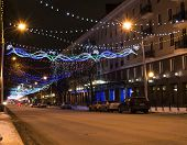 pic of prospectus  - The city decorated with light garlands by New year - JPG