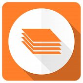 picture of gage  - layers orange flat icon gages sign  - JPG
