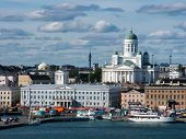 stock photo of historical ship  - View at historical building in Helsinki - JPG