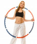 foto of hula hoop  - Sport training gym and lifestyle concept - JPG
