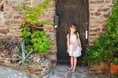 stock photo of girl next door  - Summer portrait of a cute little girl - JPG
