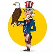 pic of uncle  - Uncle Sam and eagle - JPG