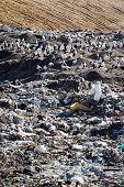 foto of landfills  - Landfill landscape - JPG