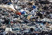 image of landfills  - Landfill landscape - JPG