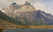 image of andes  - Cuernos del Paine in Torres del Paine National Park in the Chilean Section of the Patagonian Andes - JPG