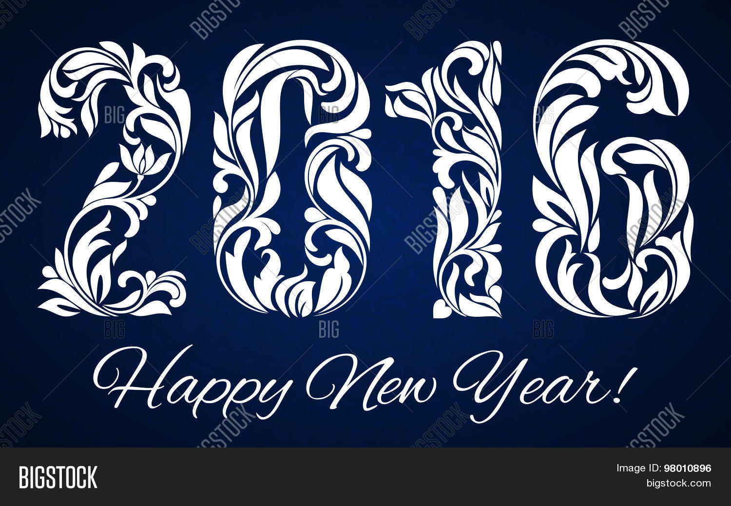 decorative fonts 2016 decorated with a decorative pattern for happy new year celebrations - Decorative Fonts