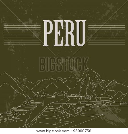 Peru  infographics, statistical data, sights. Vector