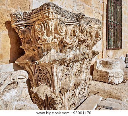 Capital: The Top Part Of Column Or Pillar