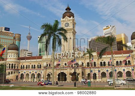 Sultan Abdul Samad building at the Independence square in Kuala Lumpur, Malaysia.