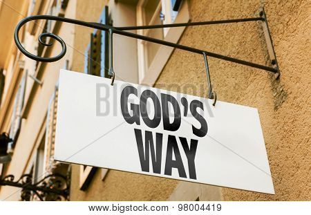 God's Way sign in a conceptual image