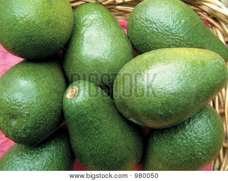 Basket Of Avacado Pears