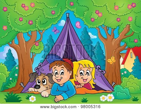 Camping theme image 3 - eps10 vector illustration.