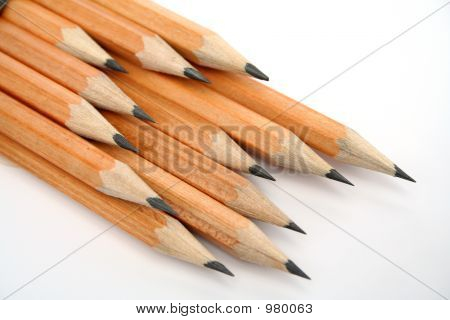 Set Of Wooden Pencils For Plotting