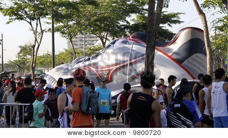 Giant inflatable shoe