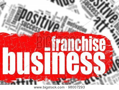 Word Cloud Franchise Business