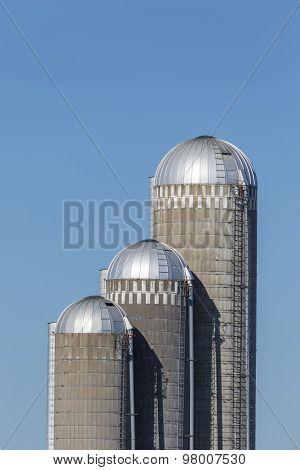 Farm Silos Trio