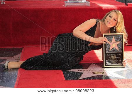 , LOS ANGELES - AUG 5:  Mariah Carey at the Mariah Carey Hollywood Walk of Fame Ceremony at the W Hollywood on August 5, 2015 in Los Angeles, CA