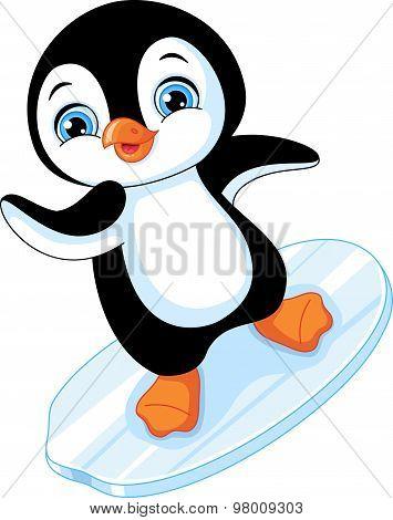 Penguin Snowboarder