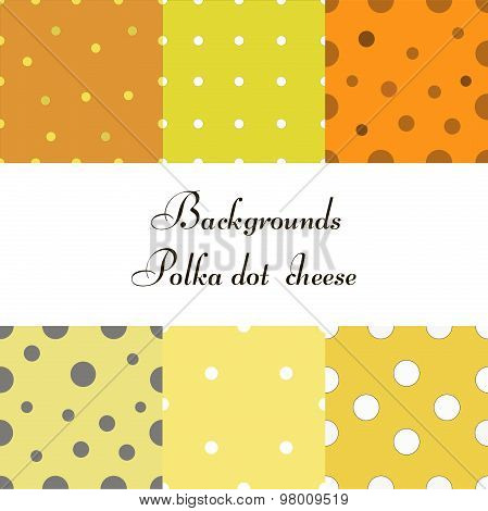 background with polka dots cheese seamless dot