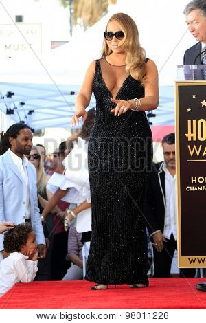 , LOS ANGELES - AUG 5:  Roc Cannon, Mariah Carey at the Mariah Carey Hollywood Walk of Fame Ceremony at the W Hollywood on August 5, 2015 in Los Angeles, CA