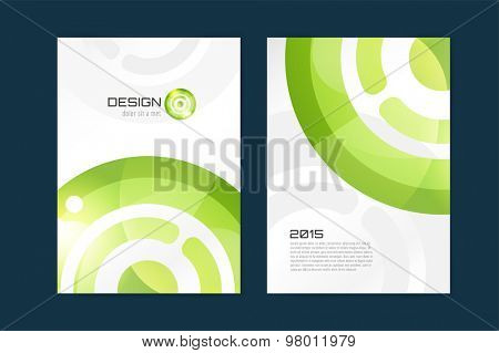 Vector brochure template. Abstract design and creative magazine idea, blank, book cover or banner template, paper, journal, arrow, globe. Stock illustration