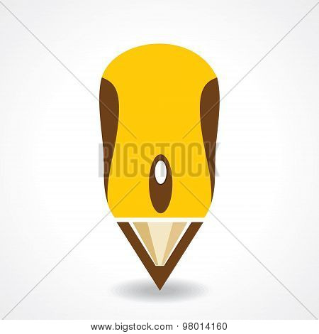 Education concept with pencil and computer mouse stock vector