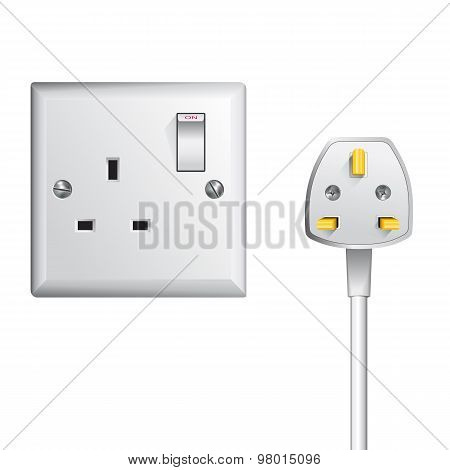 UK socket and cable