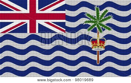 Flags British Indian Ocean Territory With Abstract Textures. Rasterized
