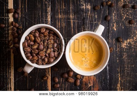 Coffee Beans In A Cups