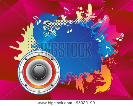 Abstract Colorful Musical Sound Explode