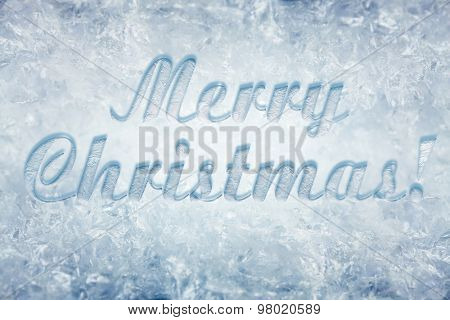 Christmas card with snowy background