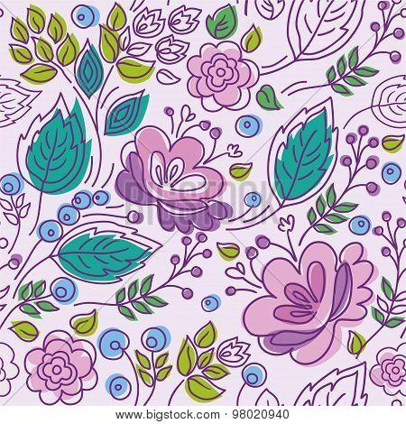Seamless Pattern, Lilac, Purp...