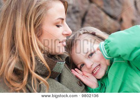 Little Girl Playing Peek-a-boo