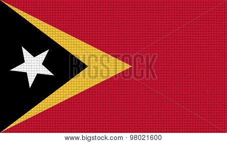 Flags East Timor With Abstract Textures. Rasterized