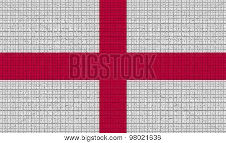 Flags England With Abstract Textures. Rasterized