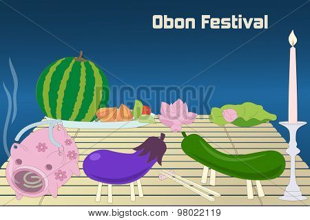 Japanese summer Bon Festival, Obon, background.