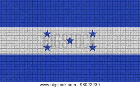 Flags Honduras With Abstract Textures. Rasterized