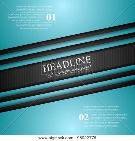 Cyan turquoise corporate art abstract design. Vector background