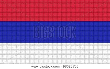 Flags Republika Srpska With Abstract Textures. Rasterized