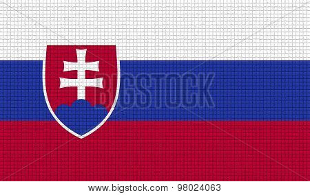Flags Slovakia With Abstract Textures. Rasterized